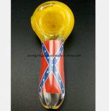 3.54 polegadas de tubulação amarela do vidro do petróleo do filtro da tubulação do fumo