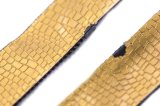 Chiusura lampo di nylon con nastro adesivo di cuoio/colore/superiore gialli