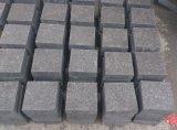 G684 flammte Fliese, Raben-schwarzen Granit, Holzkohle-schwarzer Granit