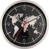 Карта мира моды в современном стиле Настенные часы металла искусства акриловые украшения Настенные часы