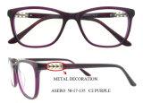 最新のデザイン優雅な光景ガラスフレームのダイヤモンドの寺院光学Eyewear