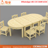 아이를 위한 단단한 나무 종묘장 실행 학교 테이블 그리고 의자