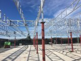 PIRのパネル0072が付いている鉄骨構造のパビリオンの屋根