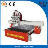 Máquina de talla de madera de Acut-1325 3D con el ranurador de tres Spindle/CNC para la madera