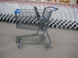 Amerikanische Supermarkt-Einzelhandelsgeschäft-Einkaufen-Laufkatze