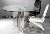 Weiches PU-Deckel-MESA, das Stuhl mit Edelstahl-Rahmen speist