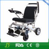 Nuevo sillón de ruedas plegable invalidado de la batería de litio de la energía eléctrica de la aleación del magnesio respaldo ajustable
