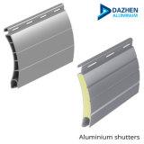Revestimiento de polvo de color beige blanco / Perfil de aluminio puerta de garaje cubierta arrollable