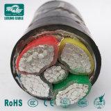 0.6/1kv ronda sólido de Alumínio Termorresistente 2 / 3 / 4 / 5 Core 4 mm2 PVC cabo de alimentação