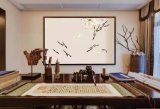 Wholsale Classcial chinos de papel de pared tipo PVC Papel tapiz de flores de papel de la pared de vinilo