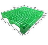 1200*1000*150 de standaard Groene Plastic Plastic Pallet van de Insluiting