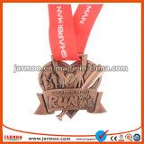 De goedkope Nieuwe Ontworpen Medaille van de Sporten van de Marathon van het Metaal van de Legering van het Zink Lopende