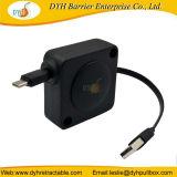 Resistente al por mayor de 0,8 m de extensión retráctil 3 en 1 cable cargador rebobinadora