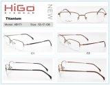 De halve Frames van het Oogglas van het Voorschrift van de Glazen van het Titanium van de Rand Super Flexibele