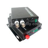 2 canales de Video Digital convertidor de fibra óptica con un solo