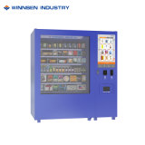 Distributore automatico dello schermo di tocco con affissione a cristalli liquidi che fa pubblicità allo schermo con il ricettore della moneta