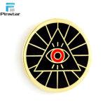 製造業者の中国の安いエナメルの金属の目は、最もよい品質の折りえりPin形づいた