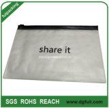 De milieu Envelop van Polyvinyl Chloride paste de Afgedrukte Houder van de Kaart van de Ritssluiting van pvc aan