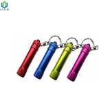 Lanterna LED de alumínio colorida com porta-chaves
