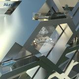 Оформление алюминиевый профиль наружной стены под руководством