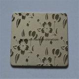 Trilpatroon Chemische Geëtste Roestvrijstalen Decoratieve Metalen Plaat