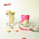 Suporte de vidro da tampa clássica Vela Perfumada de gengibre com decoração de fita