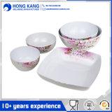 Plastikmelamin-Essgeschirr-gesetzte Platte
