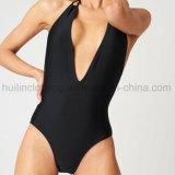 Sexy женщин В.ПУТИН V-образный вырез горловины из одного куска купальный костюм