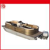 21ft 6,4m parte placer BBQ Pontoon Boat bote de aluminio de la velocidad del barco barco de pesca