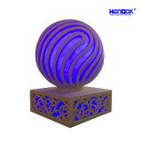 La piedra arenisca de jardín Polyresin noche LED Bola lámpara con altavoz Bluetooth