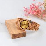 Senhoras Luxury Bambu OEM artesanais de quartzo de vigilância de madeira