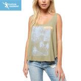 De in het groot Hemden van de Vrouwen van de Druk van het Mouwloos onderhemd van het Bamboe Losse Geschikte