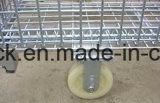 Recipiente galvanizado do engranzamento de fio com roda