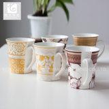 A porcelana do decalque da flor coloca a venda por atacado da origem de China