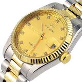 Ss и совмещенный золотом Timepiece благородного джентльмена цветов роскошный с окном даты