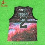 Chalecos de encargo baratos baratos de las camisas del baloncesto del nuevo diseño