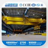 20ton 30ton 40ton 50ton 100ton 레일을 설치하는 두 배 대들보 천장 기중기