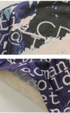 T-shirt court à imprimé complet en coton 3D avec col en V pour homme