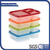 Un'utilizzazione alimentare dei 3 scompartimenti e casella di pranzo della materia plastica