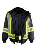 Seguridad resistente al por mayor 3 del trabajo del Mens en 1 chaqueta del abrigo esquimal del invierno con '' cinta reflexiva 4