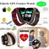 心拍数のモニタ(D28)が付いている多彩なタッチ画面年配GPSの腕時計