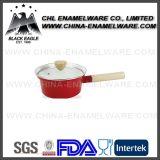 Pot van de Kaas van het Email van de Kleur van de fabriek de In het groot Stevige met het Handvat van het Bakeliet