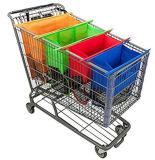 een reeks van Grote Capaciteit van 4 de Opnieuw te gebruiken Afneembare het Winkelen van het Karretje van de Kar van de Kruidenierswinkel Zakken