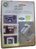 옷장, 3AAA Dycell 건전지에 의해 강화된 내각을%s 어떤 방향 헤드 회전대 3 9 LED 스포트라이트든지 점화하십시오