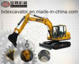 Máquina escavadora pequena da esteira rolante 7.5ton com martelo/broca/Grasper quebrados de Rotory