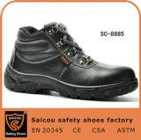 セリウムの黒のスリップの抵抗力がある鋼鉄つま先エグゼクティブ働く安全靴Sc8885