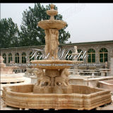 Fontaine en travertin d'or pour artisanat Mf-571