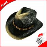 Sombrero de vaquero impreso de la paja de la trenza de papel
