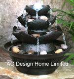 石造りの終わりのPolyresinの屋内ホーム装飾のテーブルの上水噴水W/LEDライト