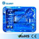Bain à remous bleu pour le plaisir et sain avec bain de soleil couché Siège (SF8B071)